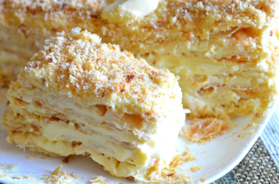 Коржи для торта наполеон рецепт
