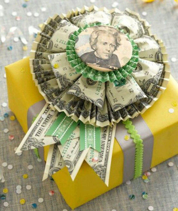 Подарки из денег с поздравлениями