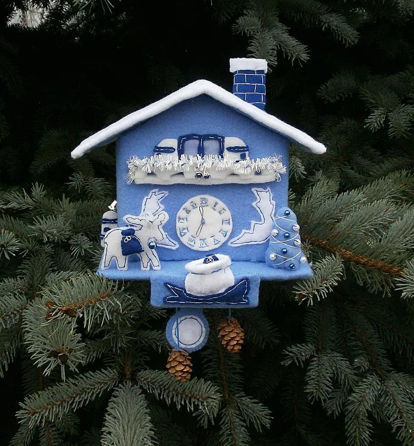 Часы новогодняя поделка своими руками