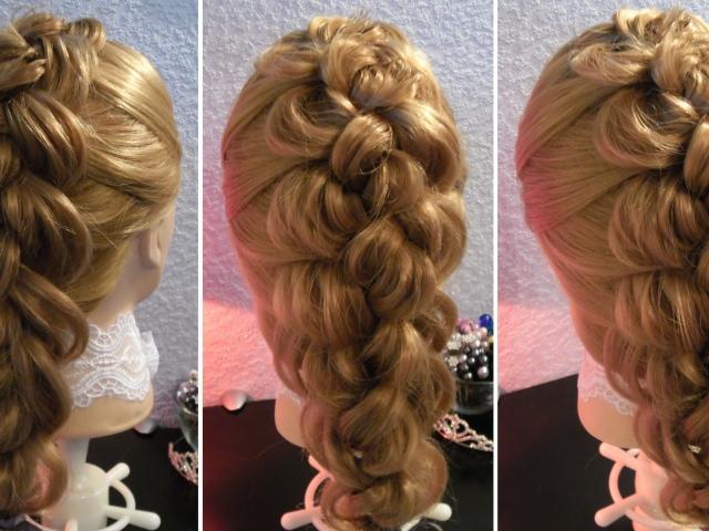 Плетение кос с захватом