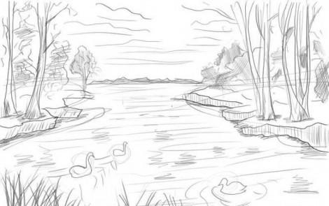 Как рисовать акварелью поэтапно для начинающих пейзаж 195