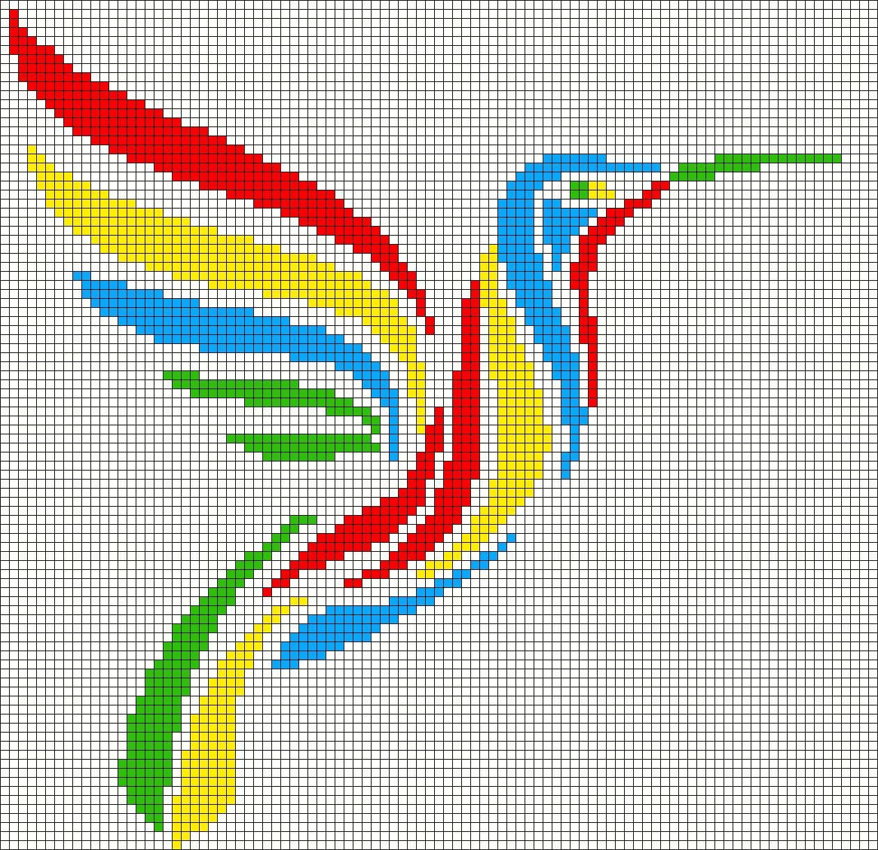Рисунки по клеточкам Майнкрафт 6