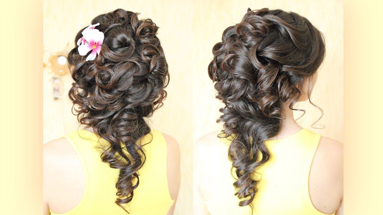 красивые прически на длинные темные волосы