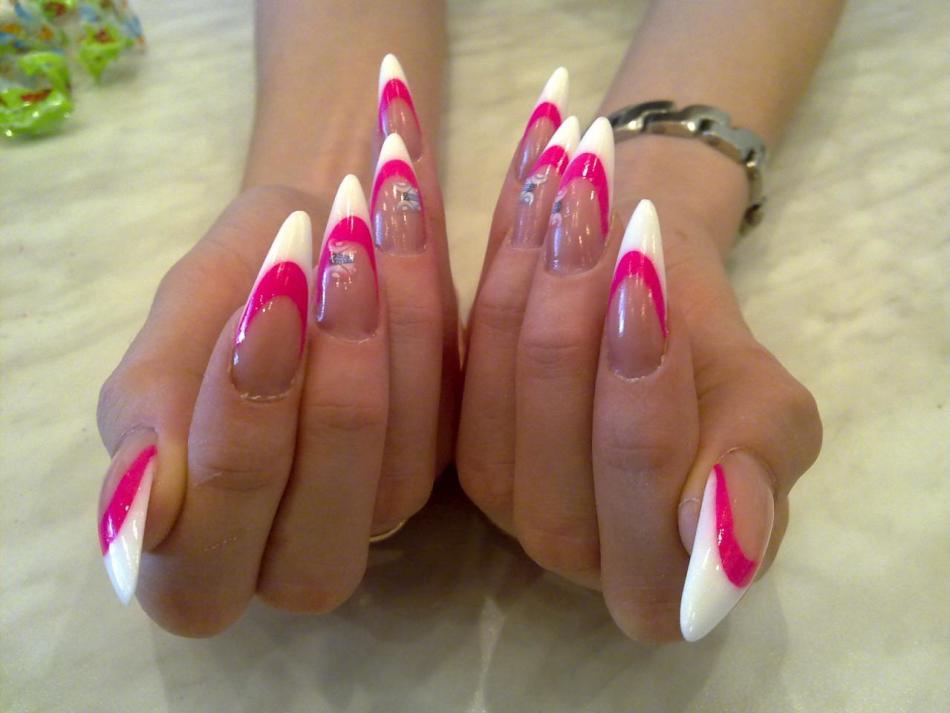 Маникюр дизайн нарощенные ногти