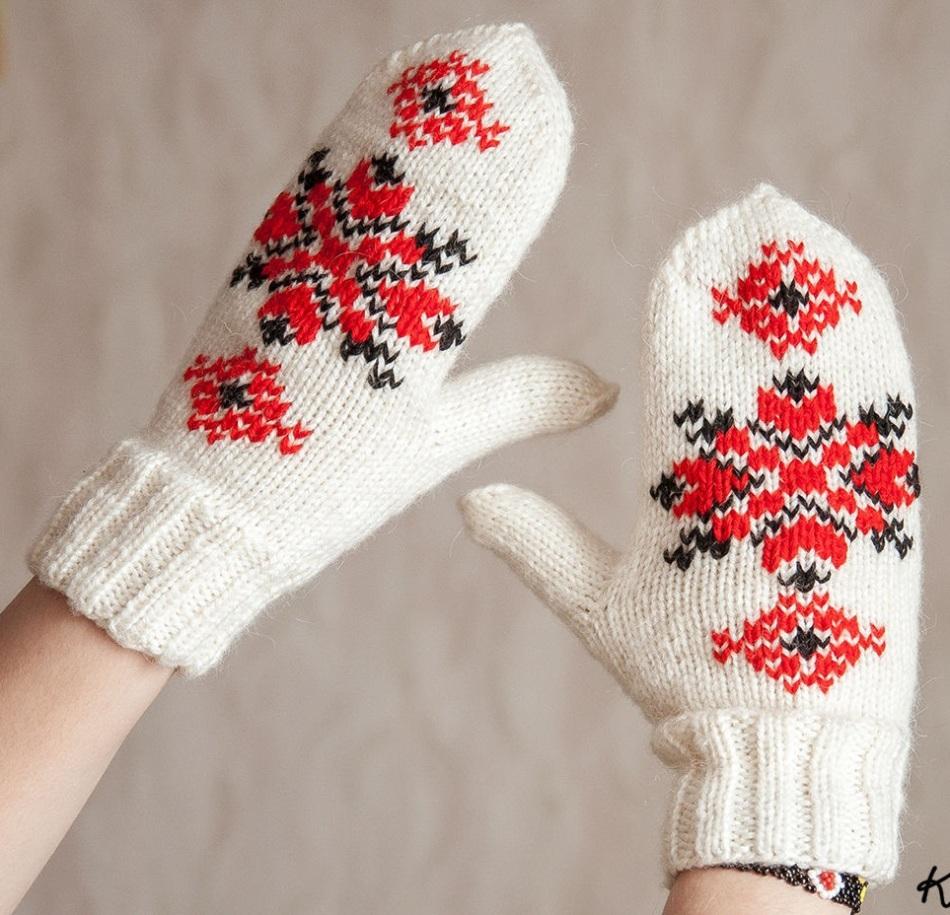 Узоры для рукавиц фото