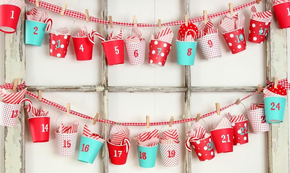 Адвент-календарь с ведерками