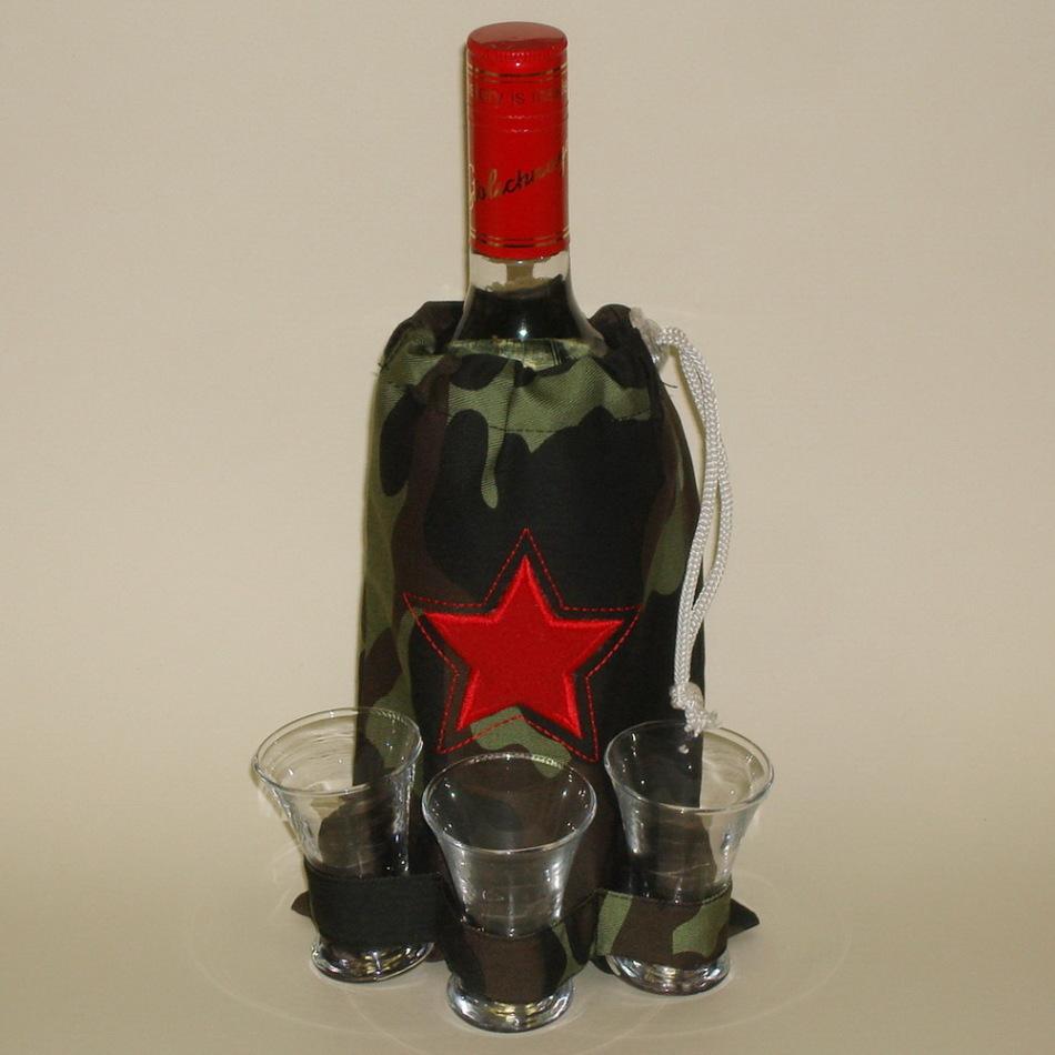 Как оформить бутылку коньяка в подарок для мужчины 43