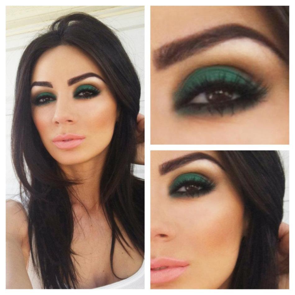 Макияжа для темно-зеленых глаз