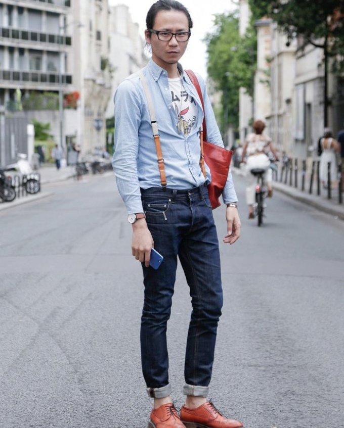 Уличная мужская мода парижа 2018-2019 года - на повседневный выход