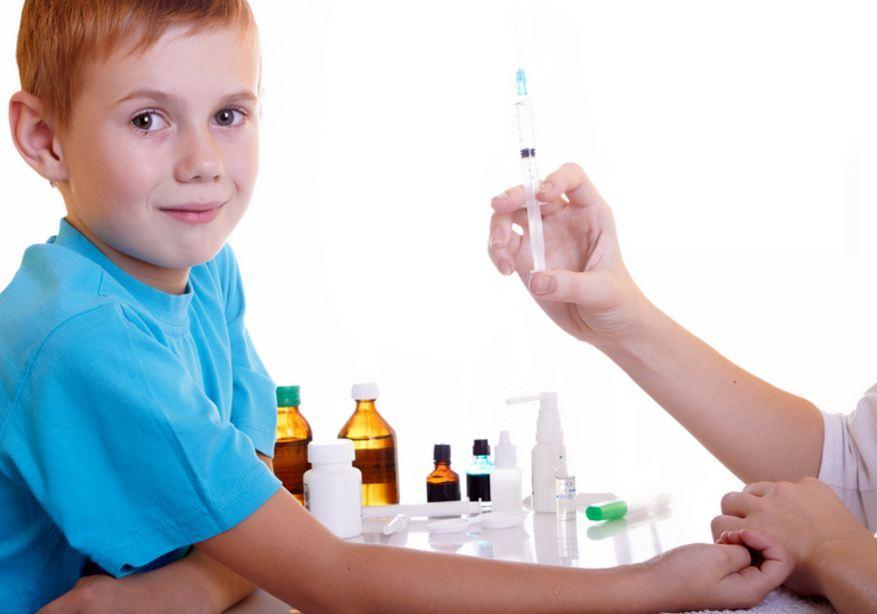 Ребенок получающий курс лечения