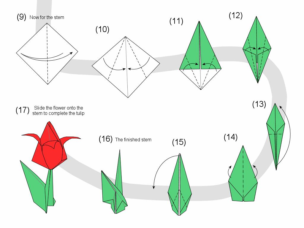 Тюльпаны из бумаги своими руками 19