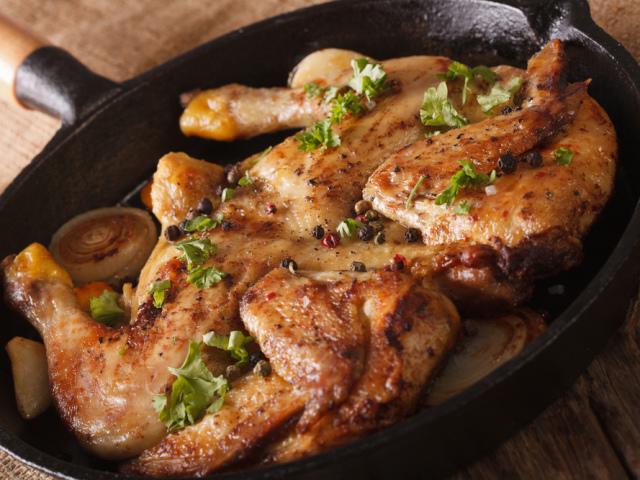 как приготовить цыпленка табака на сковороде в домашних условиях видео