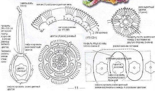 Схемы вязания поделок крючком 53
