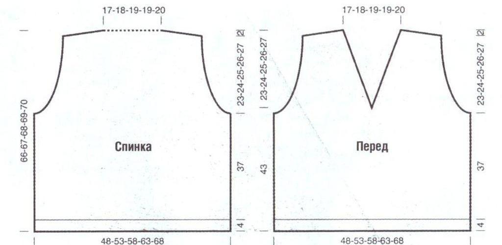 Выкройка вязаного жилета мужского