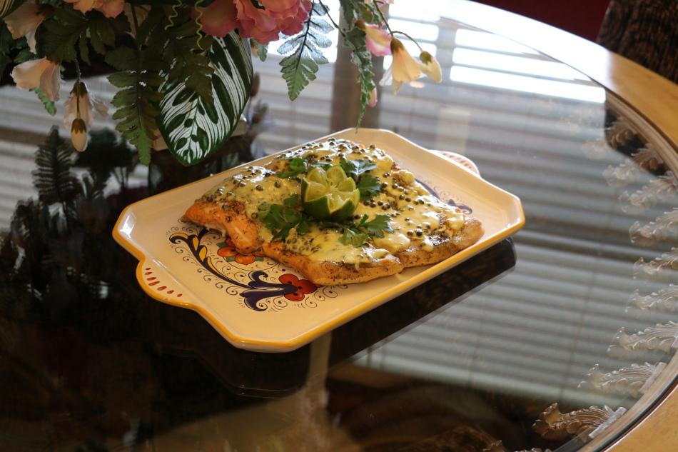 Горбуша под сливочным соусом