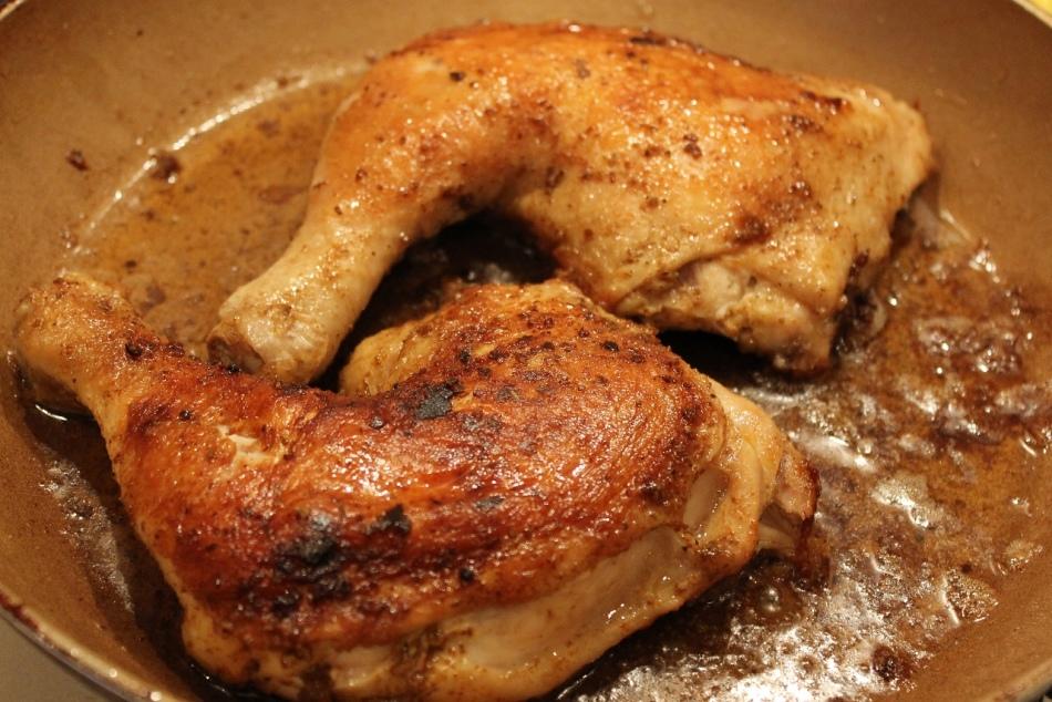 Рецепт жареной голени на сковороде