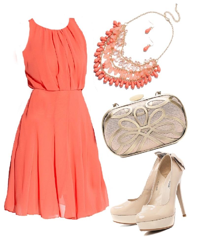 Платье Кораллового Цвета С Чем Носить