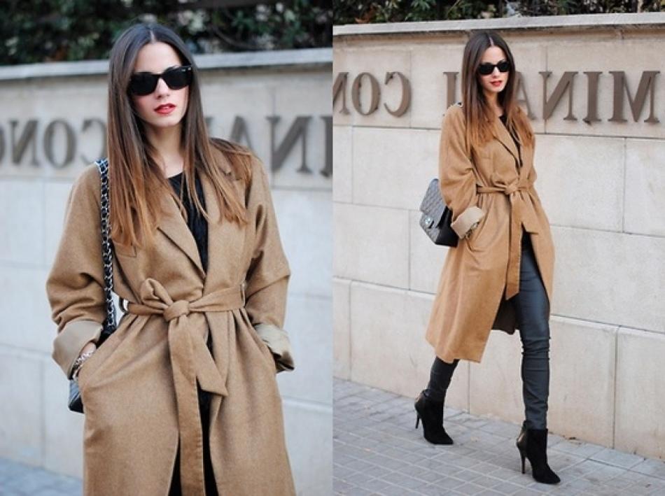 кремового цвета пальто фото