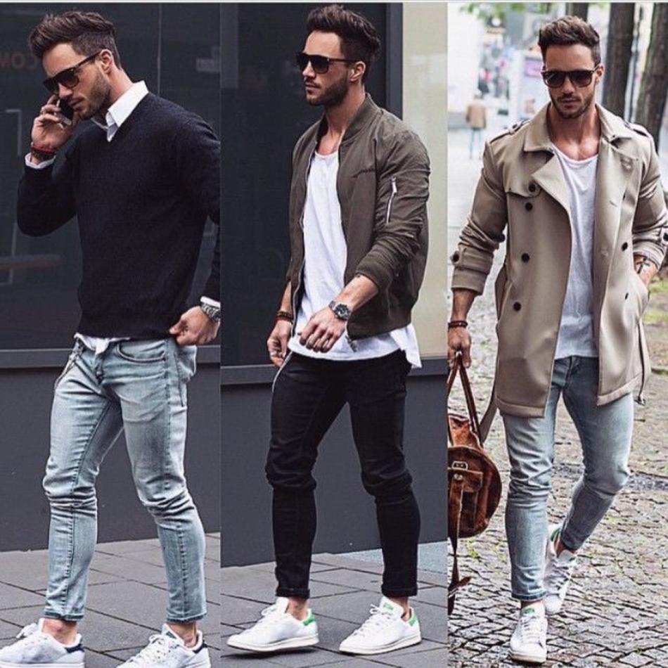 Стильная уличная мода на лето 2018-2019 года для парней и мужчин в джинсах