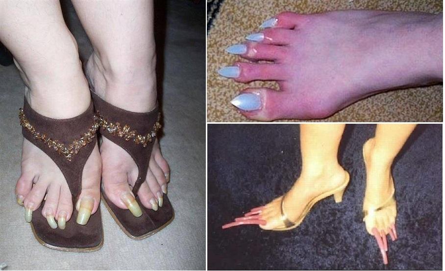 Ногти нарощенные на ногах