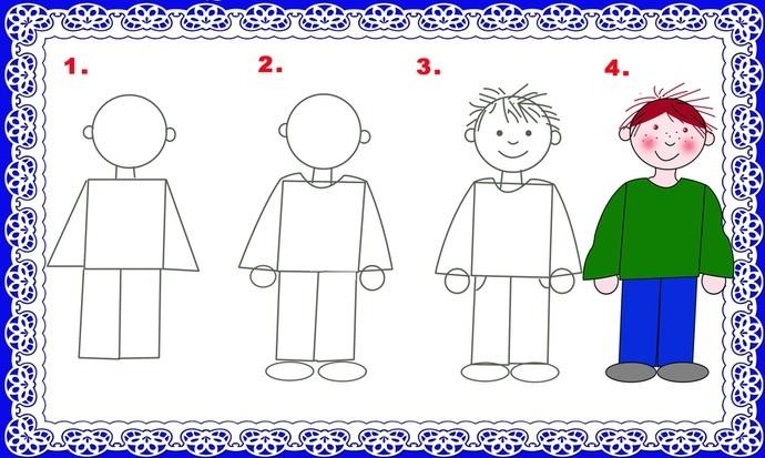 Рисуем с дошкольником людей