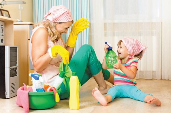 Весело делаем уборку - работают оба полушария мозга
