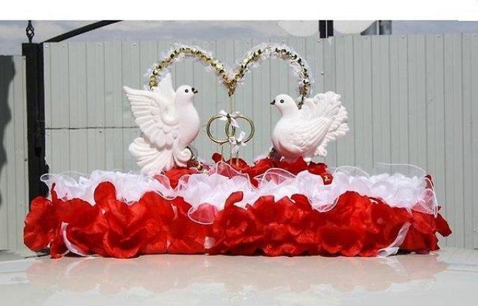 Украшение на крышу свадебной машины своими руками - голуби
