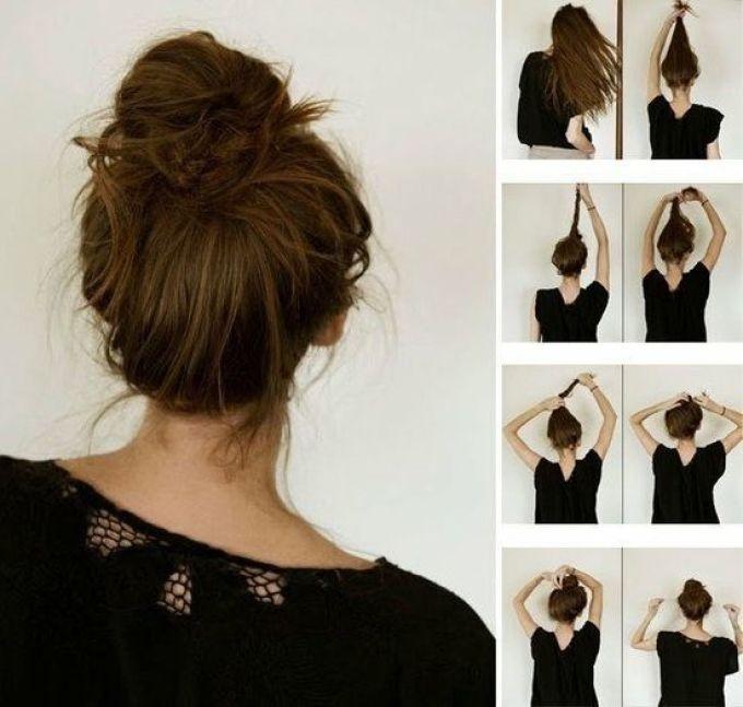 Лёгкие причёски на средние волосы за 5 минут