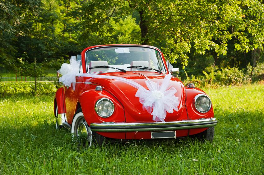 Большой бант на свадебную машину своими руками