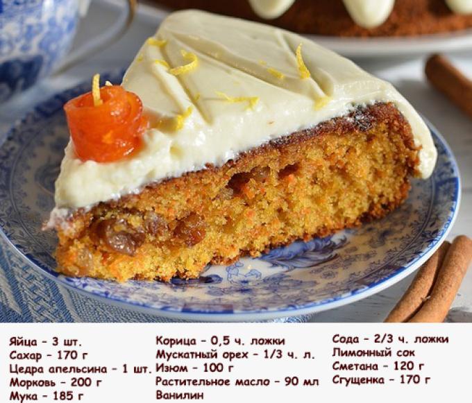 Морковный пирог рецепт с лимоном