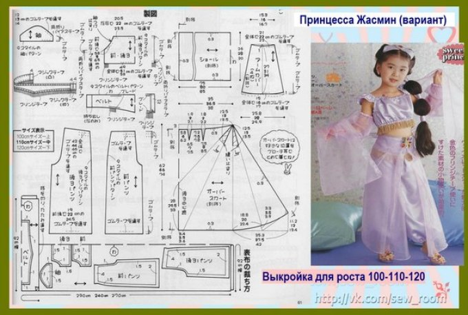 Карнавальные костюм для девочек с выкройкой