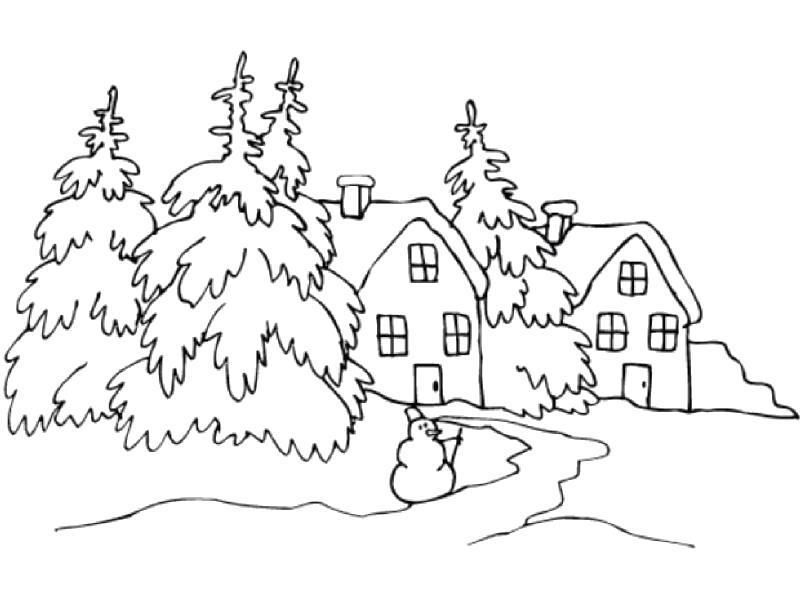 Рисуем зиму! Идеи рисунков на зимнюю тему.