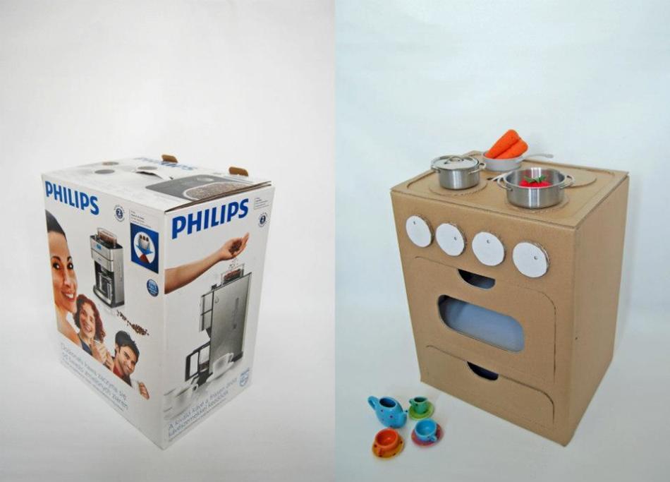 Игрушки для детей своими руками из коробок