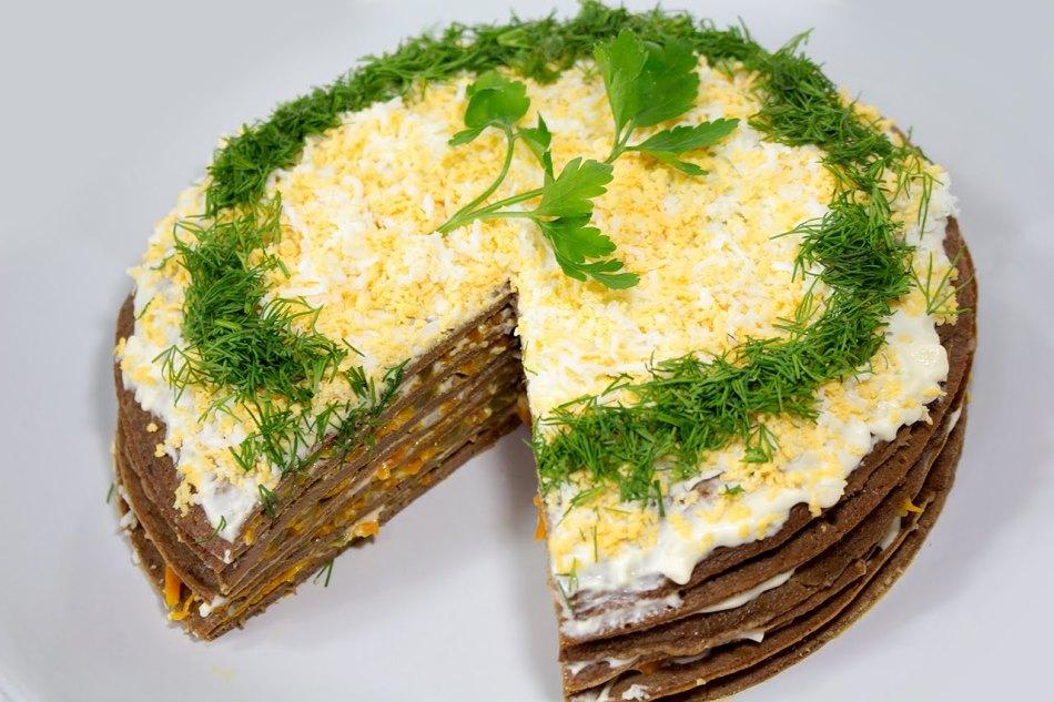 Как сделать печеночный торт рецепт с фото пошагово 428