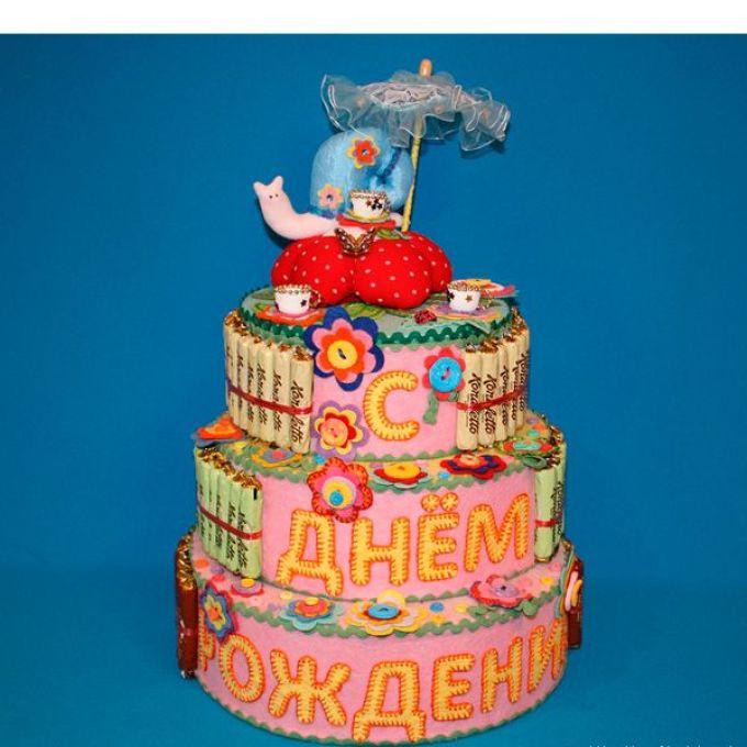 Торт для ребенка своими руками из сладостей