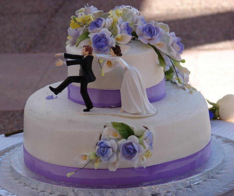 Торт свадебный из мастики своими руками