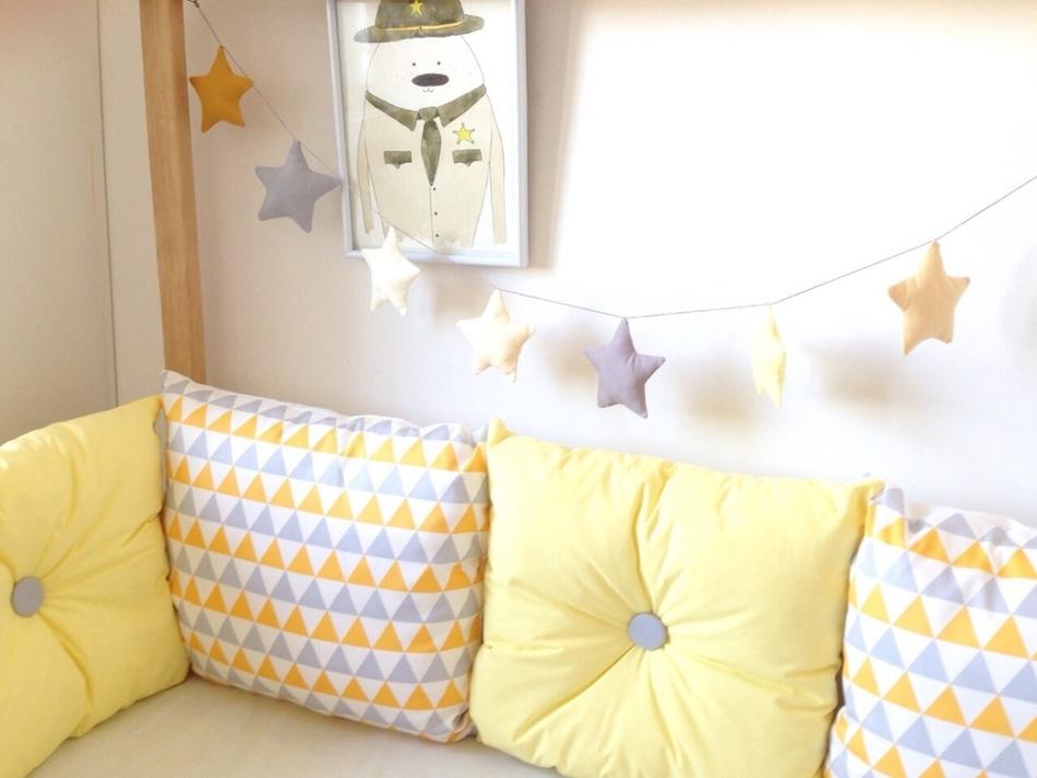 Бортики подушки на кроватку для новорожденных своими руками