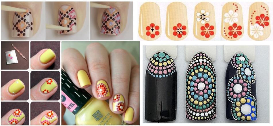 Цветки на ногтях в домашних условиях 473