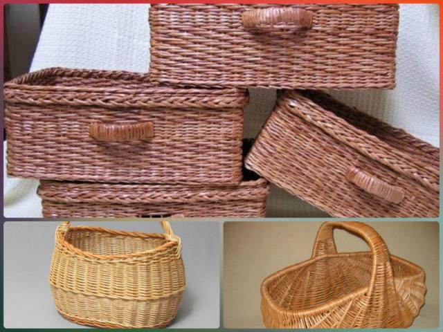плетение из газетных трубочек корзины