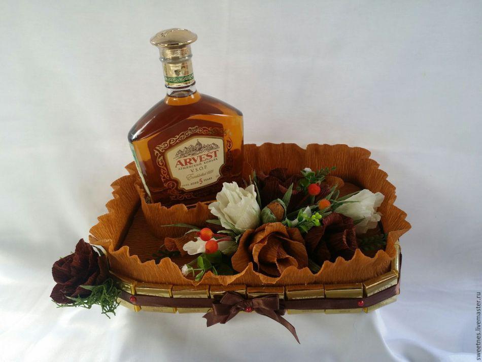 Как красиво украсить бутылку коньяка своими руками в подарок для мужчины