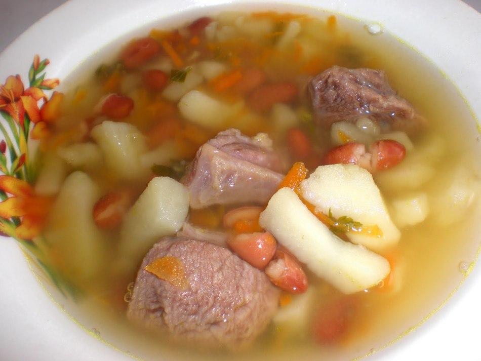 Суп из фасоли рецепт с мясом рецепт с пошагово