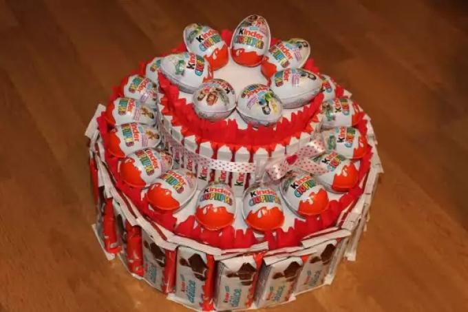 Торт из конфет и сока мастер класс