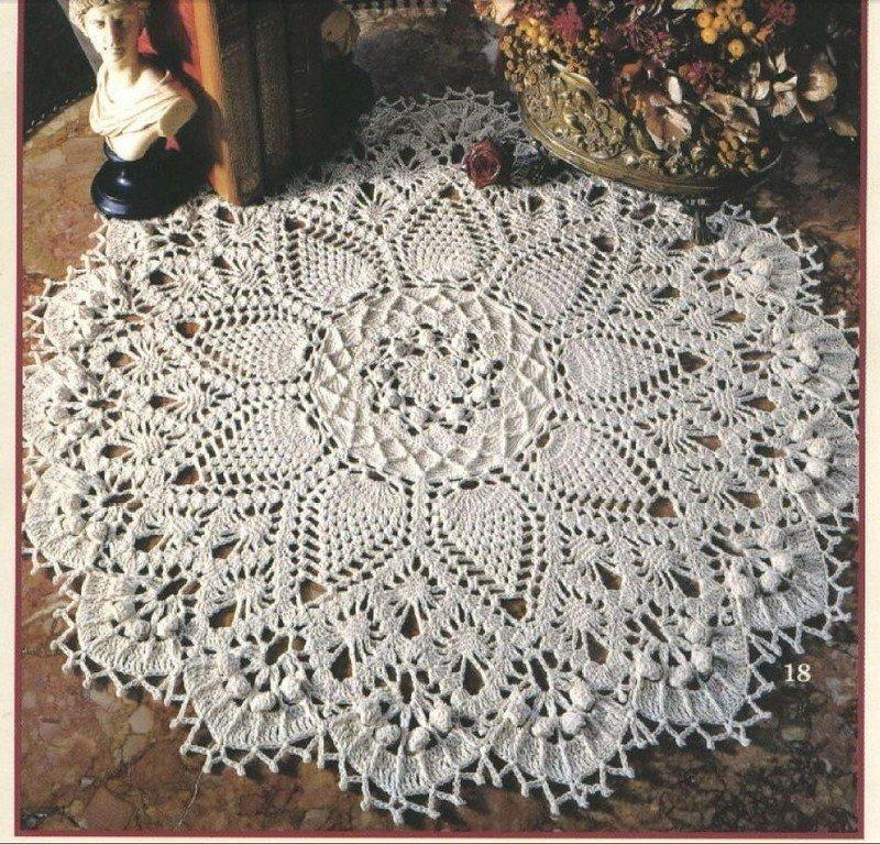 Вязание покрывала из шнура 71