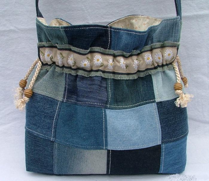 Оригинальные сумки из джинсовой ткани, фото