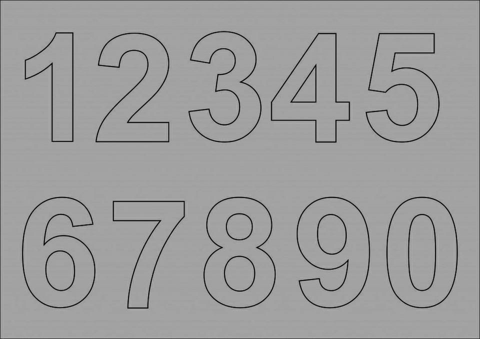 Как сделать трафарет для цифр своими руками