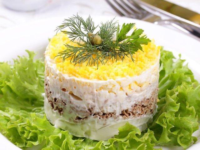 с с фото пошаговый рецепт мимоза сайрой салат