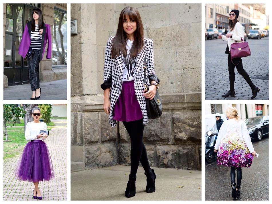 Образы в белом, фиолетовом и черном