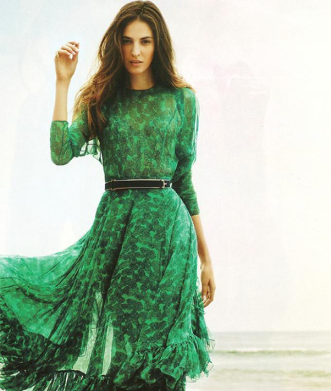 Изумрудное Платье В Пол Купить