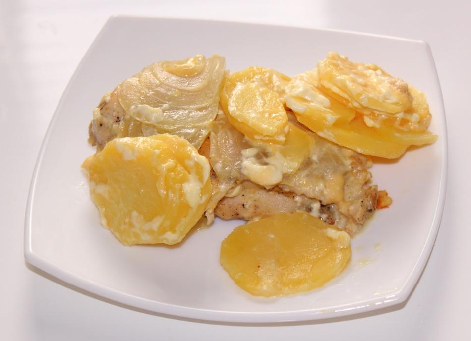 Картошка по французски с курицей в мультиварке рецепты с фото