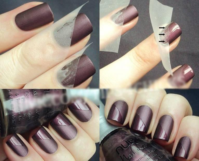 Матовые ногти своими руками